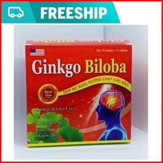 VIên uống bổ não Ginko biloba 300mg - Giúp tăng cường lưu thông máu não, hỗ trợ giảm di chứng sau tai biến mạch máu não- Hộp 100 viên thumbnail