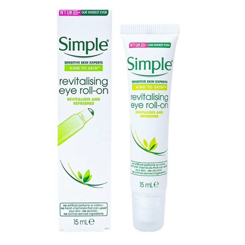 Kem Dưỡng Mắt Simple Kind To Skin Cream Revitalising Eye Roll-On 15 ml (Hộp) giá rẻ