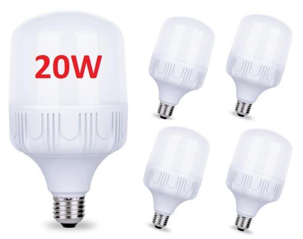 Bộ 5 bóng đèn Led 20W cao cấp tiết kiệm điện Đuôi đèn E27 Tuổi thọ cao - Bảo hành 12 tháng