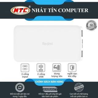 [HCM]Pin sạc dự phòng Xiaomi Redmi PB100LZM 10000mAh hỗ trợ 2 cổng sạc vào (Trắng) - Nhất Tín Computer thumbnail