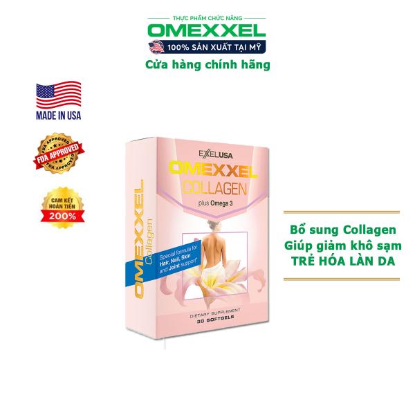 Viên uống bổ sung Collagen, chống lão hóa Omexxel Collagen - Chính hãng Mỹ (Hộp 30 viên)