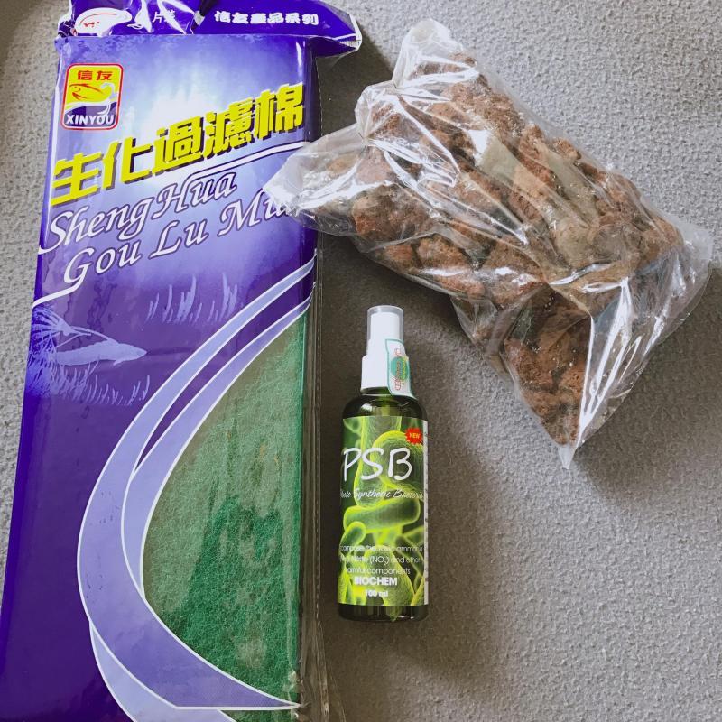 [Bộ 3 Vi Sinh] ComBo 1 Chai Vi Sinh Psb 100ml + 1kg Đá Nham Thạch+ 1 Bông Lọc 2 Lớp Xanh Đen, Sự Kết Hợp Hoàn Hảo