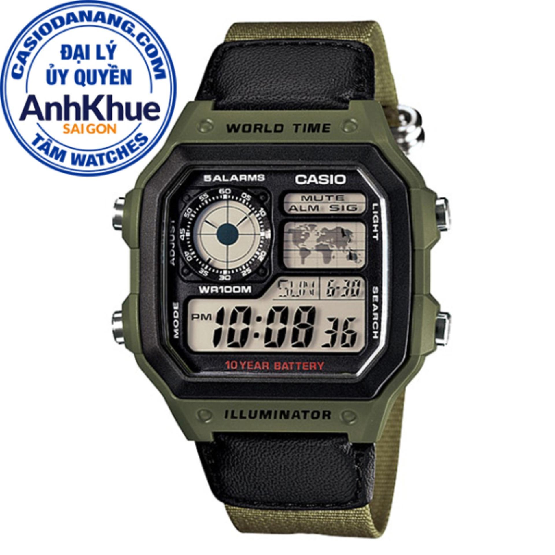 Đồng hồ nam Casio Standard chính hãng Anh Khuê AE-1200WHB-3BVDF bán chạy