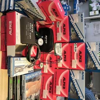 Ống Nghe y khoa 1 dây 2 mặt Tai Nghe Y Tế tim phổi 1 Dây Alpk2 FT-801 (FT 801) cho máy đo huyết áp cơ alpk2 Nhật Bản, Tai nghe cho bộ đo huyết áp ALPK2 , ống nghe y tế Alpk2 thumbnail
