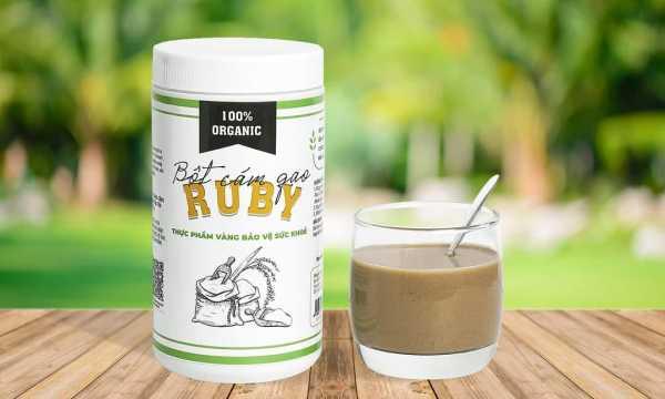 Bột cám gạo nguyên chất RUBY