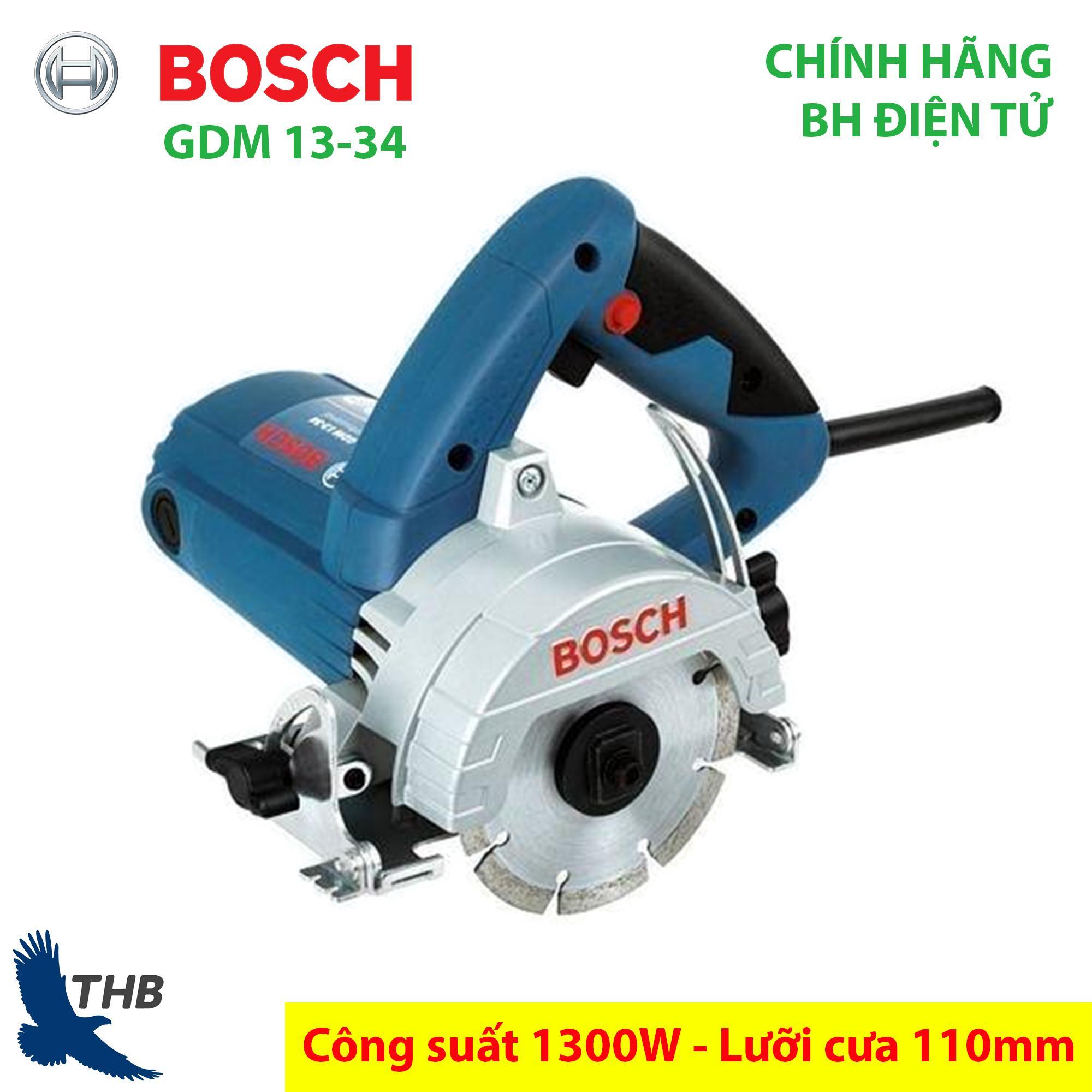 Máy cắt gạch Máy cắt đá Ceramic Bosch chính hãng GDM 13-134 Công suất 1300W lưỡi cưa 110mm bảo hành điện tử 12 tháng - Dòng máy mới 2019