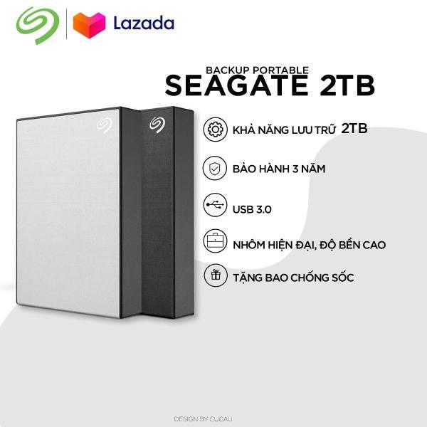Bảng giá Ổ cứng di động Seagate Backup  Slim 2TB new version 2019 + Bao da Phong Vũ