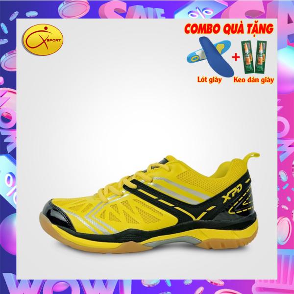 [MẪU HOT 2020] Giày cầu lông nam XPD 761 màu Vàng promax, động lực, q sport, q-sport, sport q