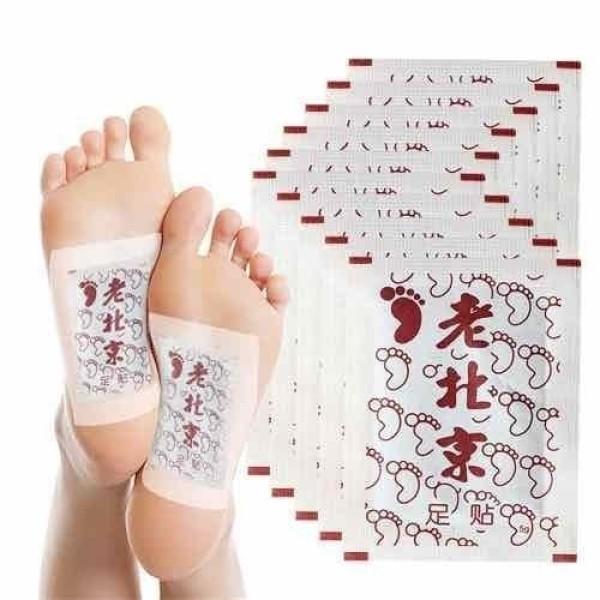 [Hộp 50 Miếng] Miếng Dán Ngải Cứu Thải Độc Chân Ông Lão Bắc Kinh, Giải Độc Cơ Thể, Giảm Đau Xương Khớp Nâng Cao Tuần Hoàn Máu