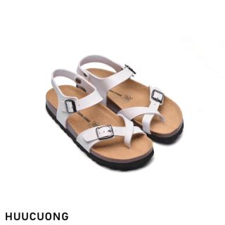 Sandal HuuCuong xo ngo n trắng đê trâ u thumbnail