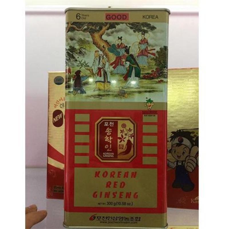 Hồng sâm củ khô Hàn Quốc Pocheon Thượng Hạng 300g Loại củ to  (18 củ ) cao cấp