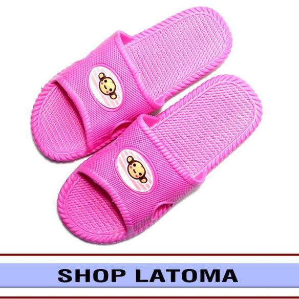 Dép nhựa chống trơn đi trong nhà thời trang Latoma AS2002 (Hồng sen) giá rẻ