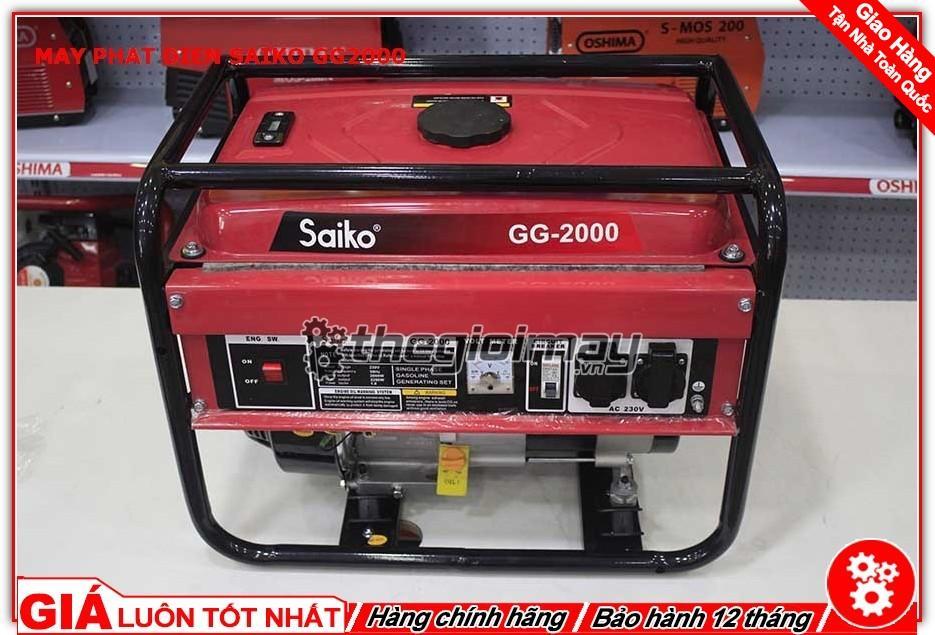 Máy phát điện saiko GG2000 ( DÒNG CHẠY XĂNG 2,2KW)