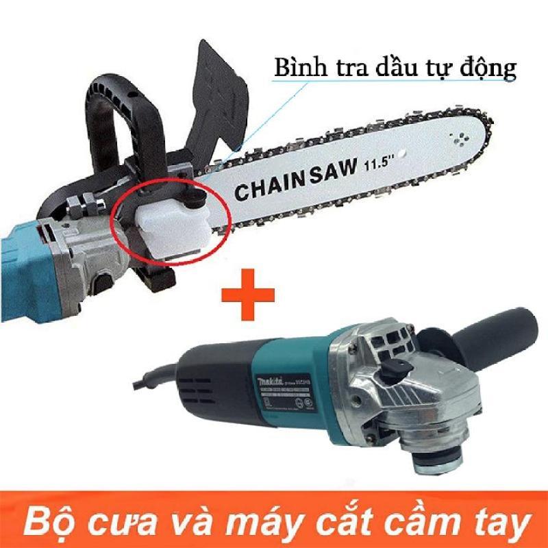 [ Trọn bộ ] Máy mài Makita 9556 + Lưỡi cưa xích Chainsaw