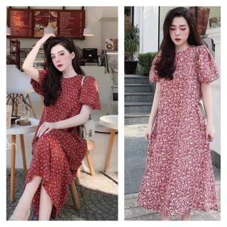 Váy thời trang Molys hoa nhí 2021 thiết kế freesize từ 40 đến 70kg MF6635 thumbnail