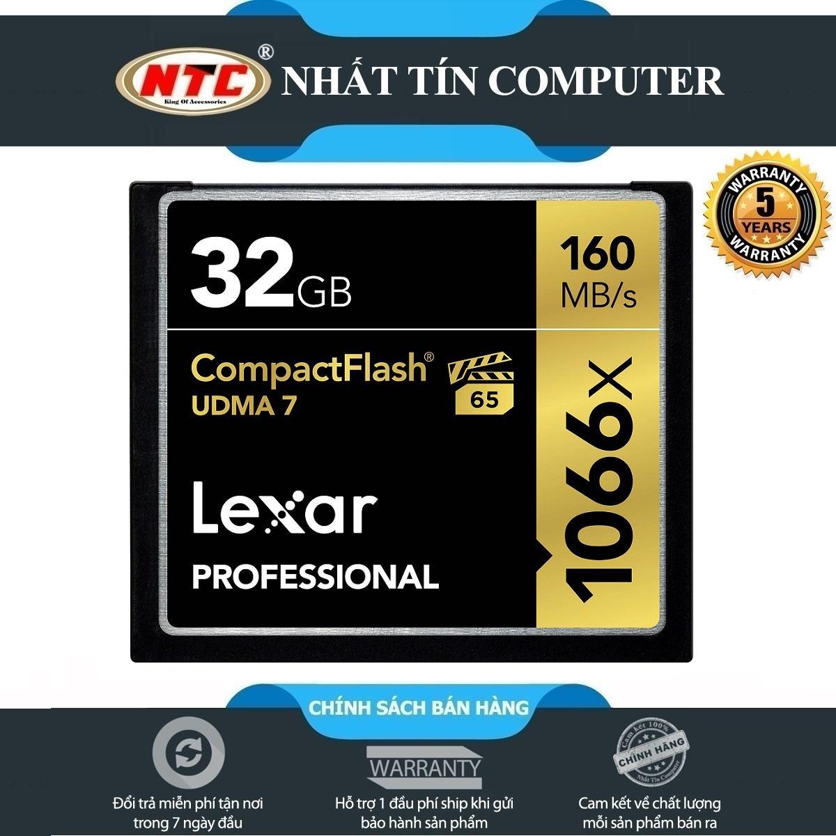 Thẻ Nhớ CF (CompactFlash) Lexar Professional 1066X 32GB 160MB/s Đen)