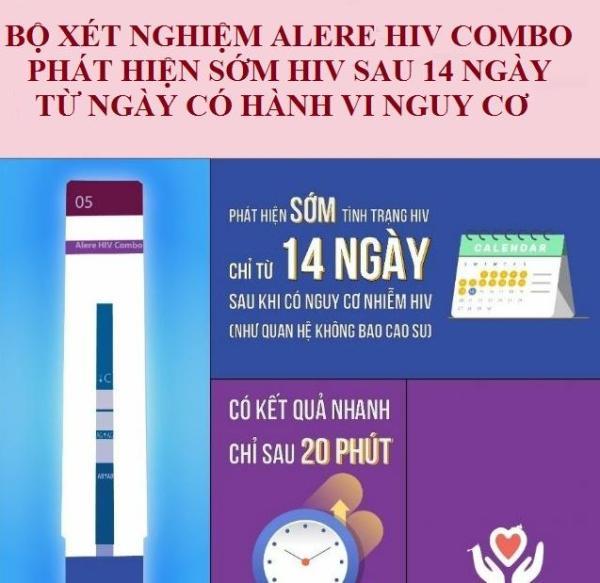Bộ xét nghiệm  HIV phát hiện sớm sau 14 ngày Alere HIV COMBO nhập khẩu Nhật Bản - AdamZone