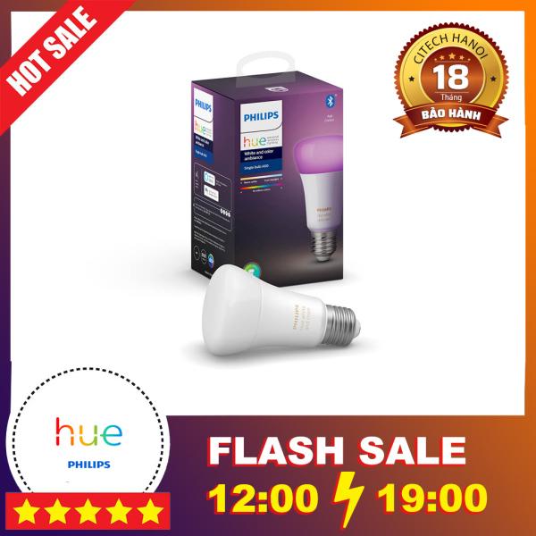 Bóng đèn thông minh đổi màu Philips Hue White and Color Ambiance E27 Tương thích Apple HomeKit, Google Assistant, Amazon
