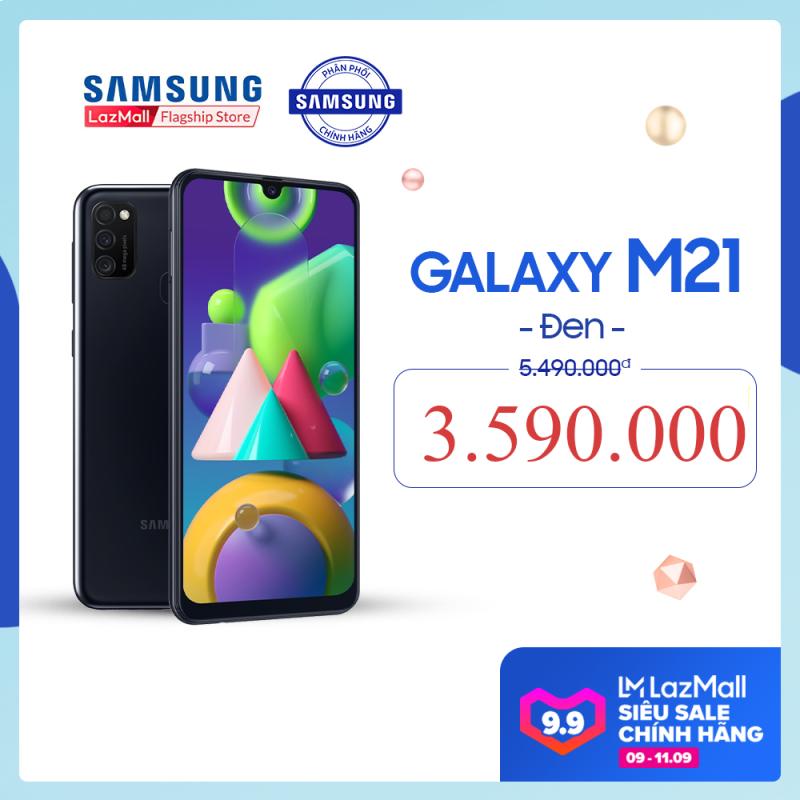 [SALE 9-11.9] Điện thoại Samsung Galaxy M21 - Siêu pin mãnh thú 6,000mAh, lớn nhất Samsung Galaxy -Bộ ba camera sau 48MP nâng tầm nhiếp ảnh - Hàng phân phối chính hãng.