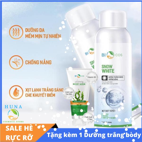Kem xịt bọt tuyết chống nắng Bio Cosmetics - giảm thâm, dưỡng trắng, chống nắng hiệu quả - 150 mL
