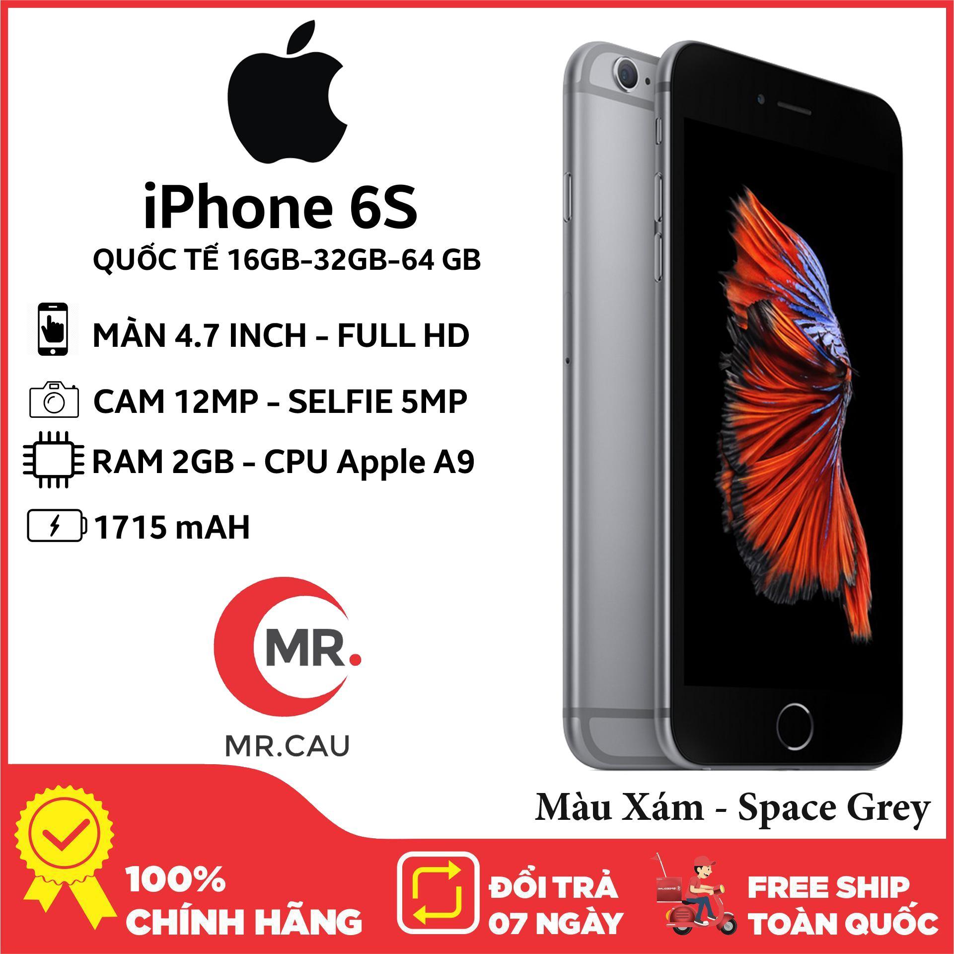 Coupon tại Lazada cho Điên Thoại Apple IPhone 6S 16GB 32GB 64GB RAM 2GB QUỐC TẾ FullBox - Full Phụ Kiện Điện Thoại Smartphone Điện Thoại Thông Minh Giá Rẻ Bảo Hảnh 6 Thàng MR CAU