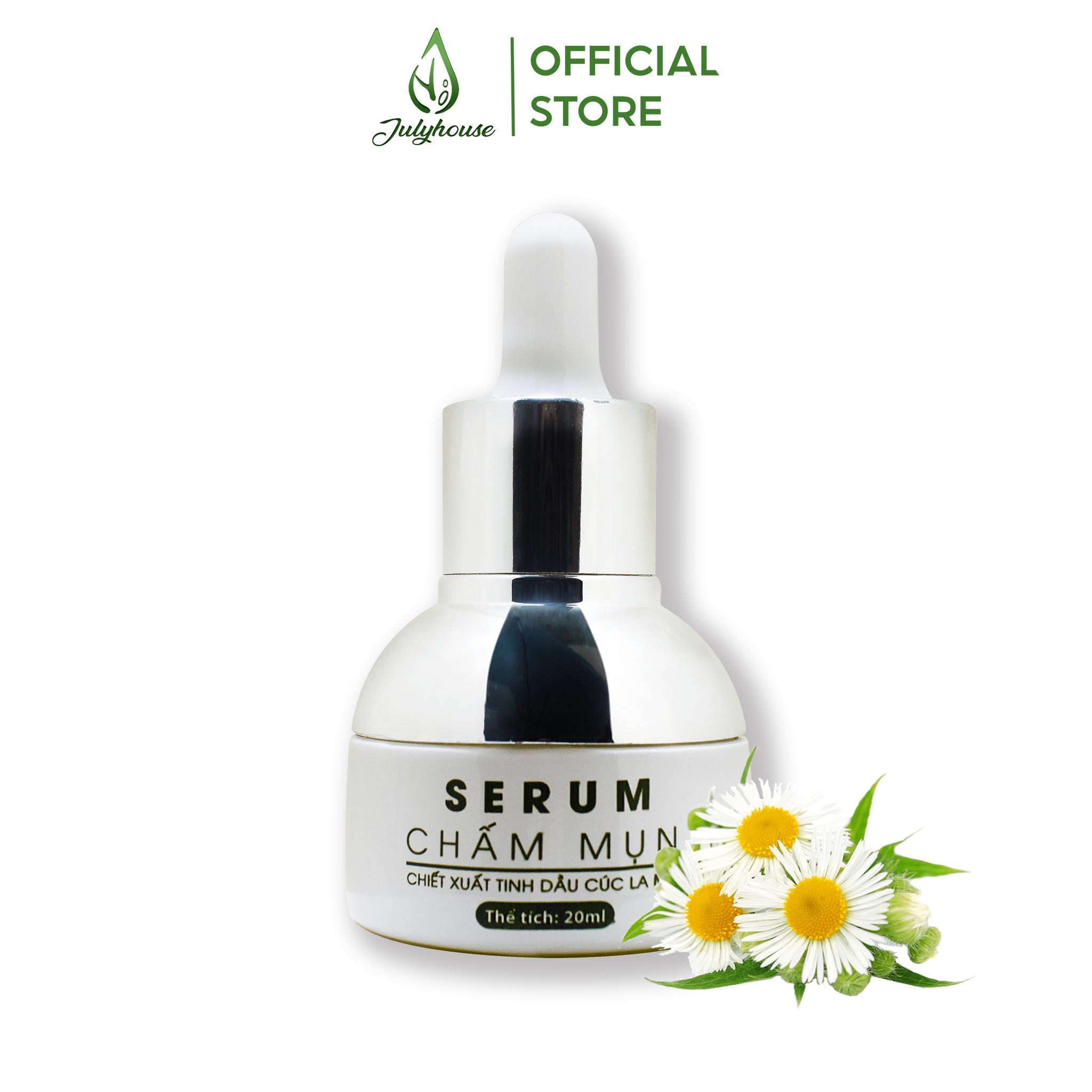 Serum chấm mụn tinh dầu Cúc La Mã hết mụn, giúp sáng da, se khít lỗ chân lông 20ml JULYHOUSE