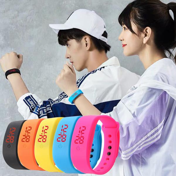 Nơi bán Đồng hồ unisex đèn led Ulzzang không thấm nước dây cao su dẻo dai thời trang