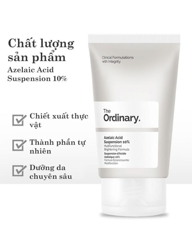The Ordinary Azelaic Acid Suspension 10% Kem dưỡng trắng da ngừa mụn làm sáng da dưỡng ẩm Whitening Cream Skin Care Moisturizing