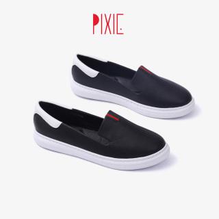 Giày Slipon Đế Cao Su Trắng Da Mềm Siêu Nhẹ Pixie X436 thumbnail
