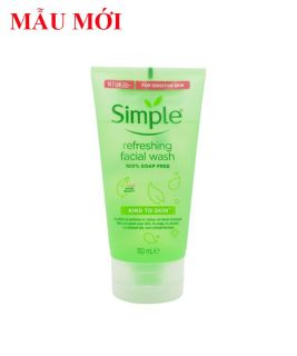 (MẪU MỚI NHẤT) Sữa Rửa Mặt Dạng Gel Simple Kind To Skin Refreshing Facial Wash thumbnail