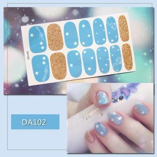 Bộ dán móng tay nail sticker gồm 14 móng mã DA101 - DA120 thumbnail