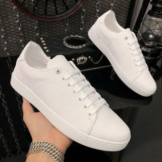 Giày thể thao nam da nhập Poly Synthetic thiết kế vân nổi thời trang LC19 3