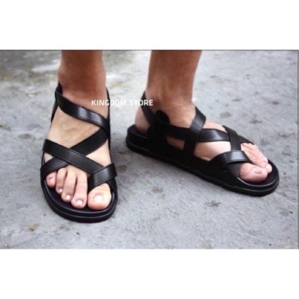 dép sandal nam quai da xỏ ngón êm nhẹ cá tính giá rẻ