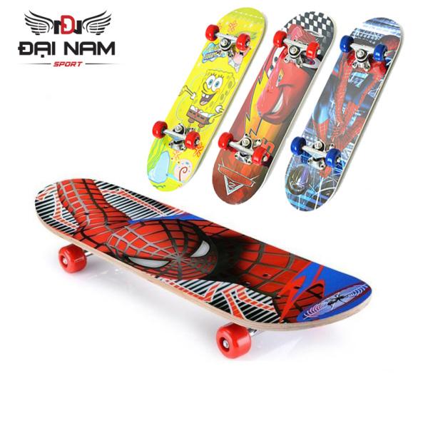 Mua Ván Trượt Skateboard Trẻ Em Nhiều Họa Tiết Kích Thước 60cm (Từ 2-10 tuổi)