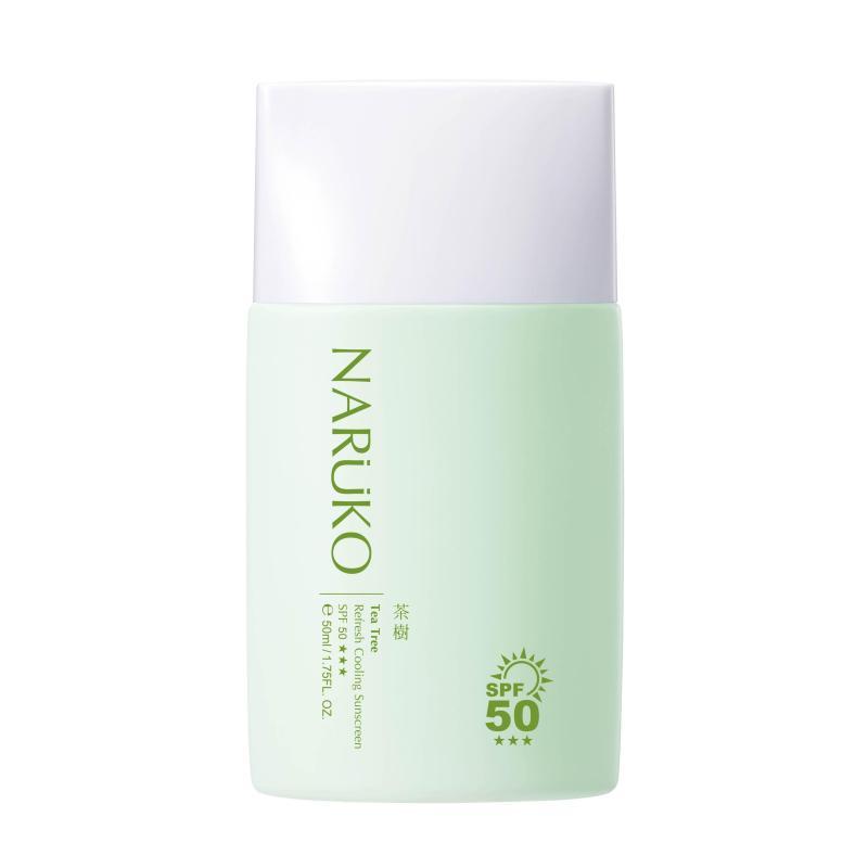 Naruko  Kem chống nắng SPF 50 mát lạnh 50ml – Tea Tree Refresh Cooling Sunscreen SPF50 50ml nhập khẩu