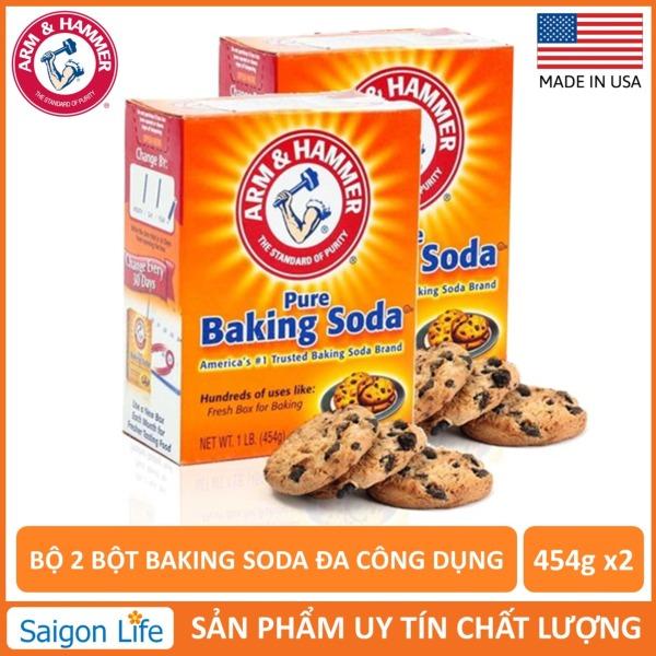 Bộ 2 Bột Baking Soda Đa Công Dụng 454g giá rẻ