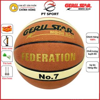 Bóng rổ GERU STAR Federation số 7 hàng CHÍNH HÃNG - Banh bóng rổ thi đấu chính thức Liên Đoàn Bóng Rổ Việt Nam thumbnail