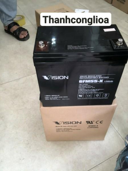 Bảng giá Ắc quy Vision 12V-55Ah 6FM55-X chuyên dụng cho ups, lưu điện bảo hành 12 tháng Phong Vũ