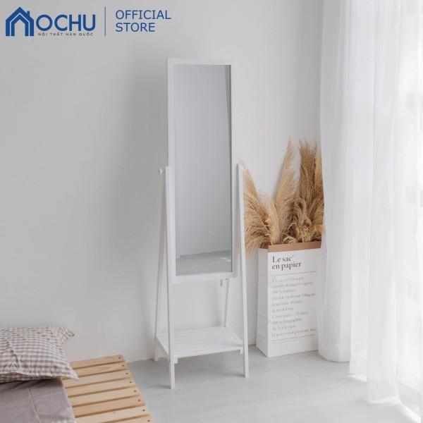 Gương Kệ Soi Toàn Thân Khung Gỗ OCHU - Mirror Shelf - White