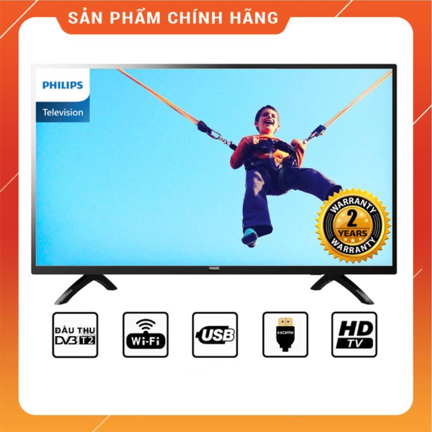 Bảng giá Smart Tivi Philips 32 inch HD - Model 32PHT5853S/74 (Đen) Tích hợp DVB-T2, Wifi