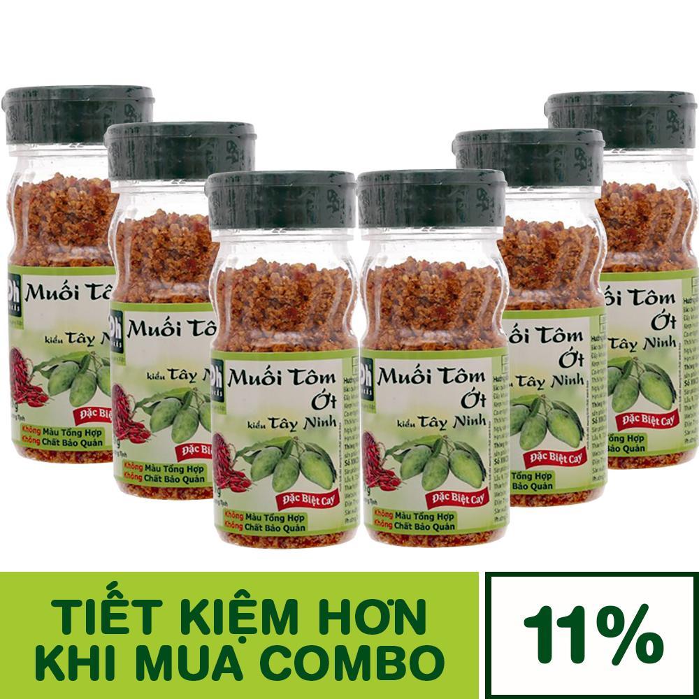 Combo 6 Hũ Muối tôm ớt kiểu Tây Ninh Dh Foods 60g