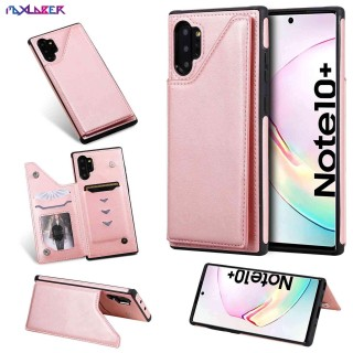 Maxlaber Case For Samsung Galaxy Note 10 Plus Multi-Function Shockproof Drop Resistance Premium PU Leather Kickstand Double Magnetic Clasp Protective Cover Case thumbnail
