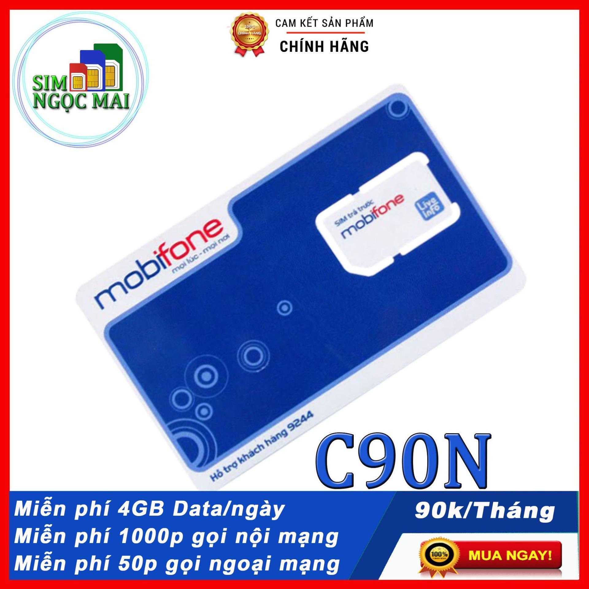 SIM 4G MOBI C90N KM 120GB ( 4GB/NGÀY )