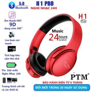 Tai Nghe Chụp Tai Bluetooth H1 Pro Pin 500mAh Nghe nhạc 24h. Mic Đàm thoại tốt. Bluetooth 5.0 Kết nối rất ổn Định. Độ Delay thấp. Chụp Tai Bluetooth Chơi GAME tốt thumbnail
