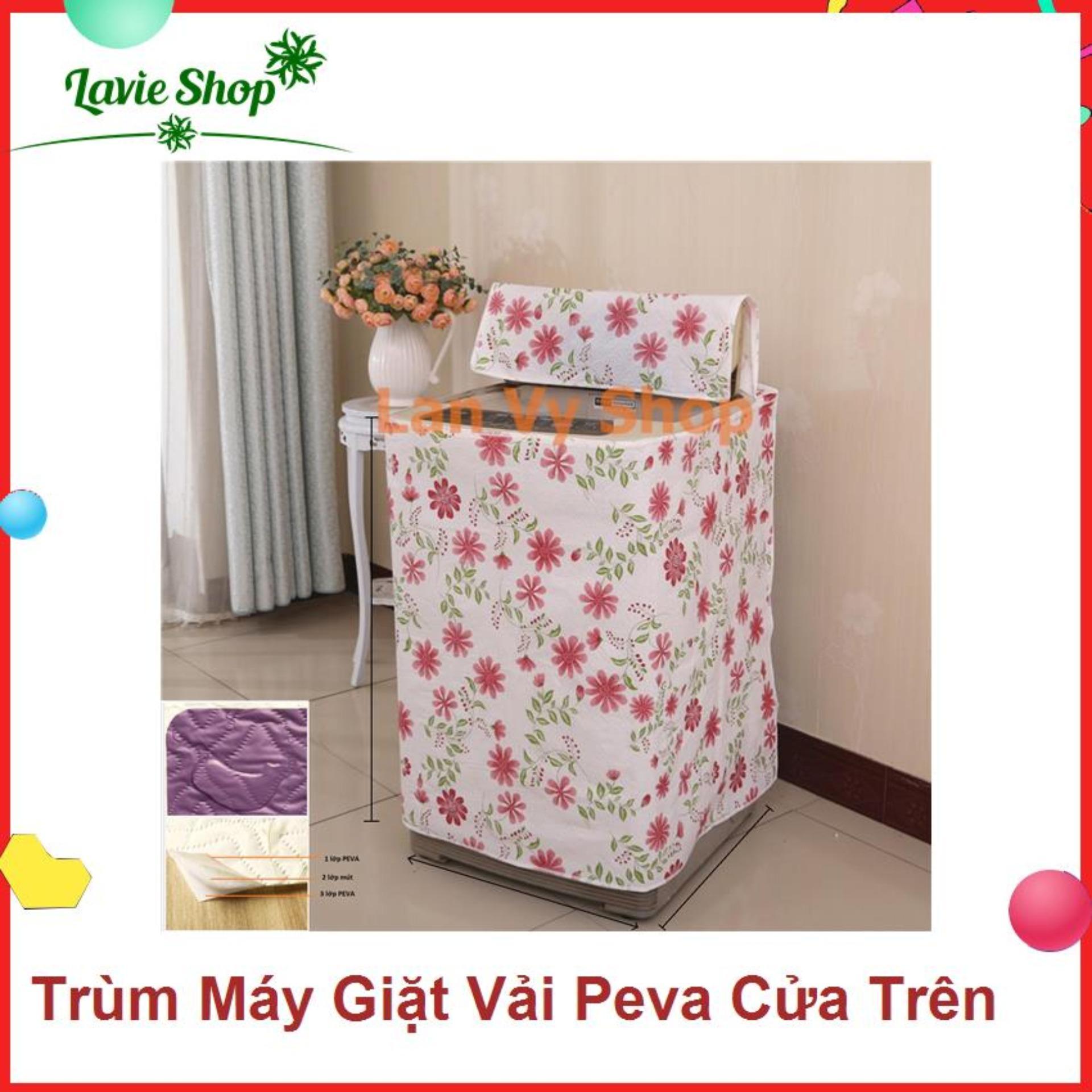 ComBo 3 Áo trùm máy giặt cửa Trước - vải PEVA 3 lớp - từ 9-10kg - mẫu ngẫu nhiên - Mjễn phj vận chuyển toàn quốc