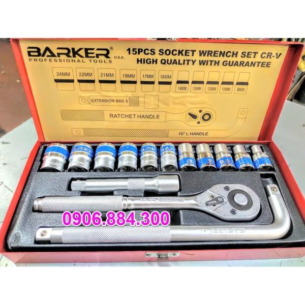 [HCM]Bộ Tuýp Khẩu 15 Chi Tiết 1/2 Barker 8mm-24mm (Bộ Đầu Tuýp Bộ Đầu Khẩu Bộ Đầu Chụp)