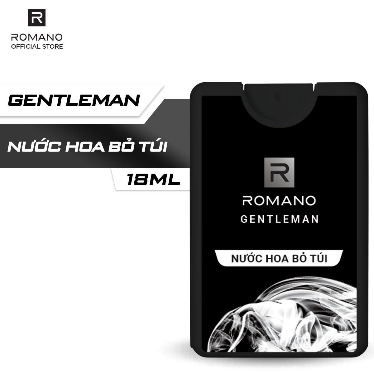 Nước hoa bỏ túi Romano Gentleman hiện đại ấn tượng 18ml nhập khẩu