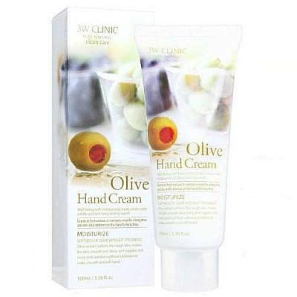 Kem Dưỡng Da Tay Chiết Xuất Ô-Liu 3W Clinic Olive Hand Cream giá rẻ