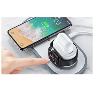 Đế sạc không dây iphone sạc nhanh Qi 3 in 1 Hoco CW20 CW21 CW24 dành cho iphone apple watch airpods samsung... thumbnail