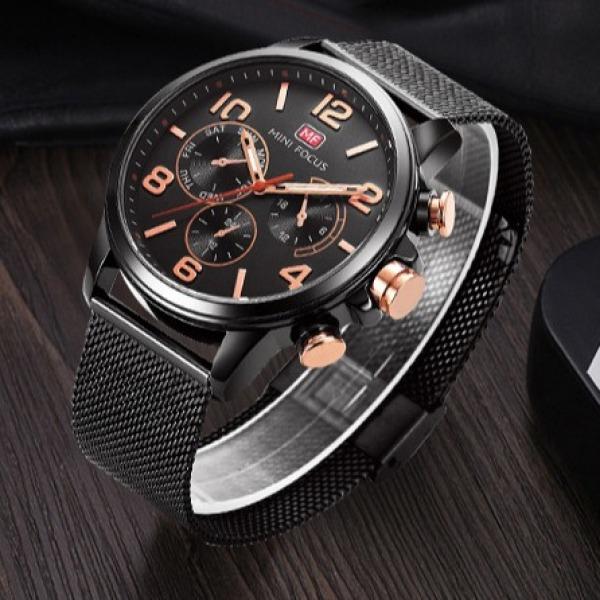 Đồng hồ nam Mini Focus MF0001G thể thao chạy full kim